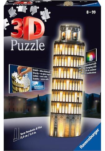 """Ravensburger 3D - Puzzle """"Schiefer Turm von Pisa bei Nacht"""" kaufen"""