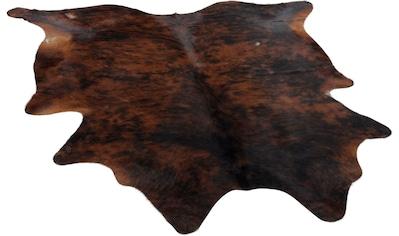 THEKO Fellteppich »Muh 6821«, fellförmig, 3 mm Höhe, echtes Rinderfell, Naturprodukt - daher ist jedes Rinderfell ist ein Einzelstück, Wohnzimmer kaufen