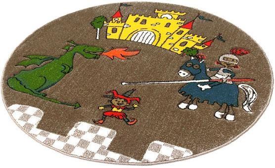 Kinderteppich Momo Ritter Festival rund Höhe 13 mm maschinell gewebt