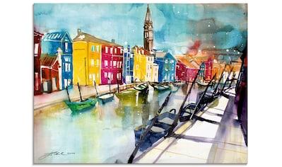 Artland Glasbild »Venedig Bunt«, Italien, (1 St.) kaufen