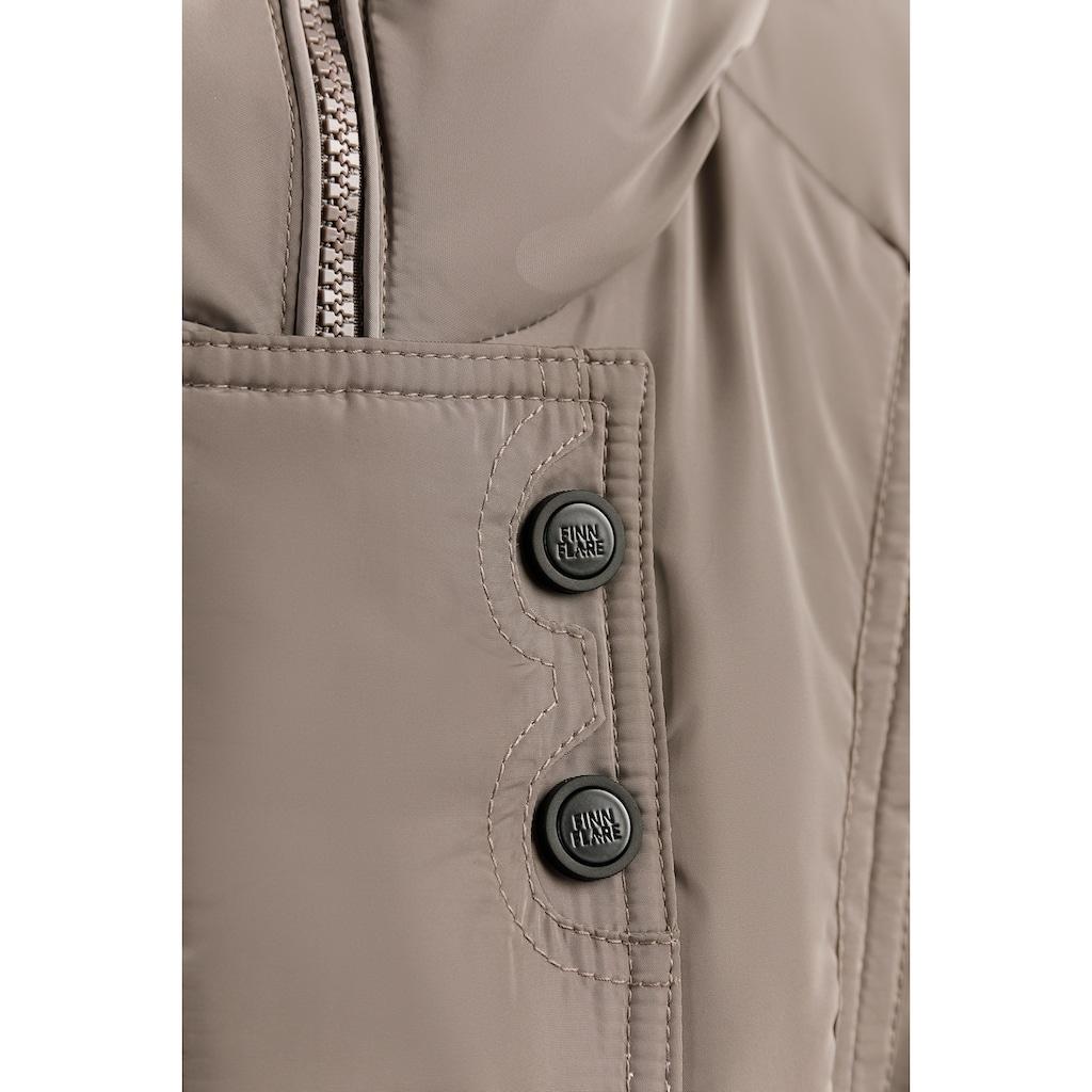 Finn Flare Daunenmantel, mit geräumigen Fronttaschen