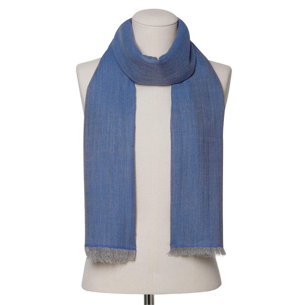 Codello Fischgrät-Schal aus feinster Wolle