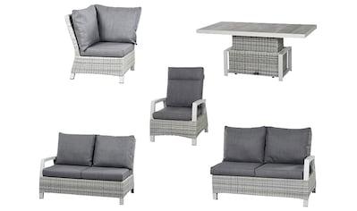 SIENA GARDEN Loungeset »Corido«, 17 - tlg., 2x 2 - Sitzer, Sessel, Eckteil, Tisch, Alu/Keramik kaufen