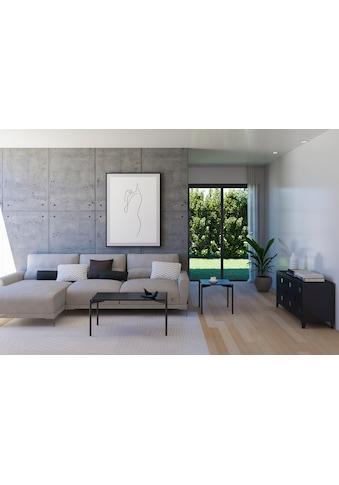 Homexperts Couchtisch »Ida«, (BxT) 90 x 45 cm, rechteckig, in Eiche natur oder schwarz... kaufen