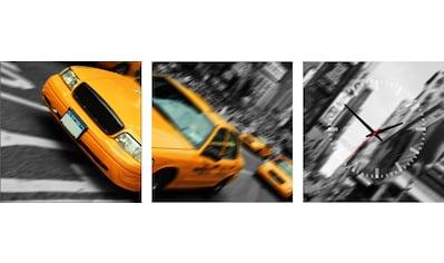 Conni Oberkircher´s Bild »Yellow Taxi«, New York, (Set), mit dekorativer Uhr kaufen