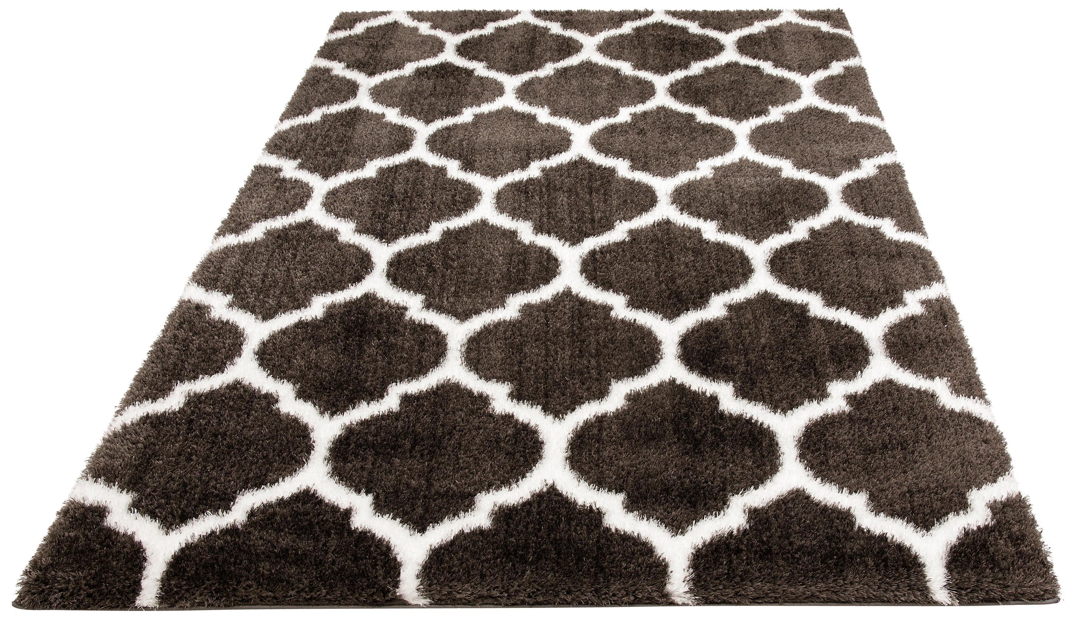 Hochflor-Teppich Soraya Leonique rechteckig Höhe 43 mm maschinell gewebt