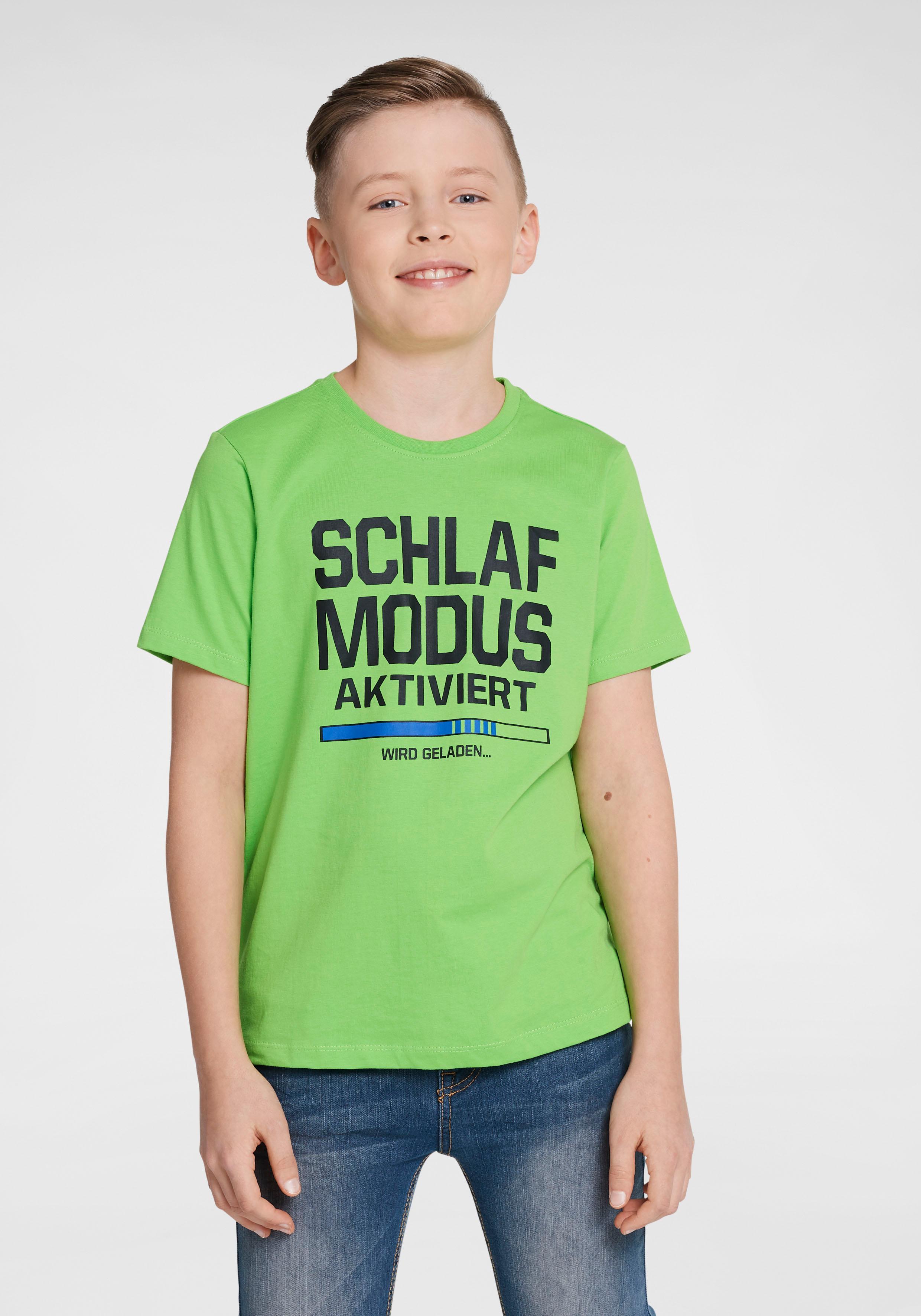 Arizona T-Shirt Schlafmodus aktiviert, Druck grün Jungen T-Shirts Shirts Jungenkleidung