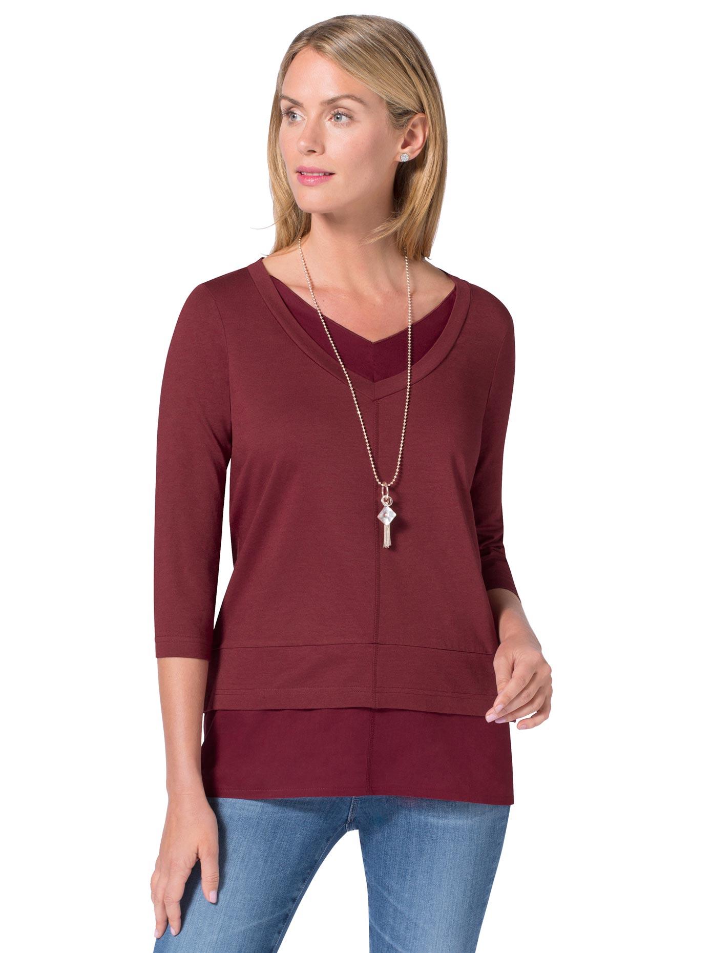 Ambria Longshirt in 2-in-1-Optik   Bekleidung > Shirts > Longshirts   Ambria
