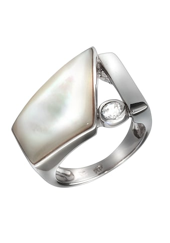 Vivance Fingerring »925/- Sterling Silber Perlmutt & Zirkonia«, Ring kaufen