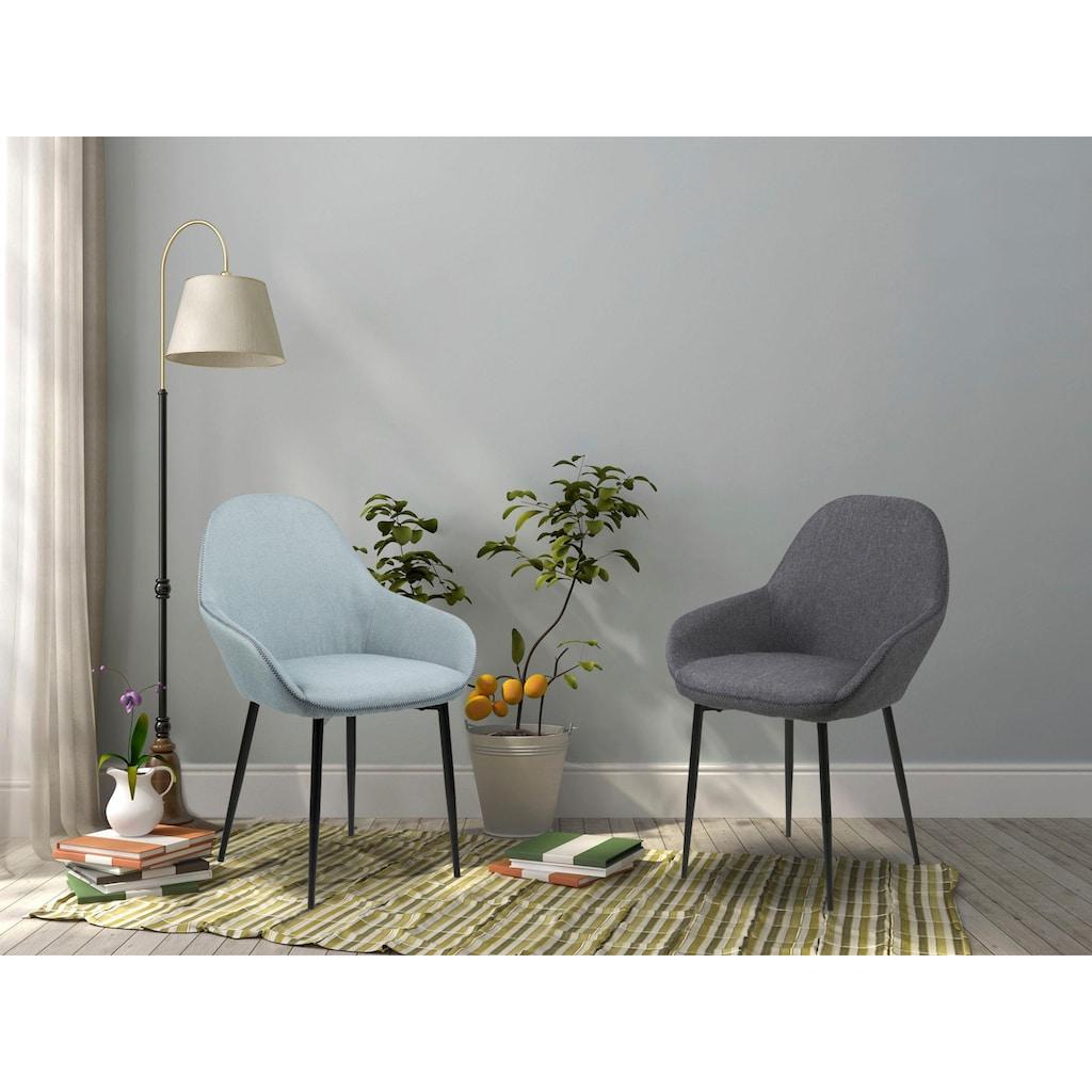 andas Esszimmerstuhl »Carla«, in zwei unterschiedlichen Bezugsqualitäten, mit Metallbeinen, Sitzhöhe 47 cm