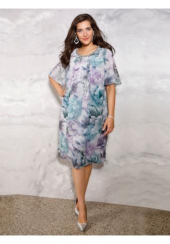 m. collection Kleid mit Dekoelement am Ausschnitt kaufen