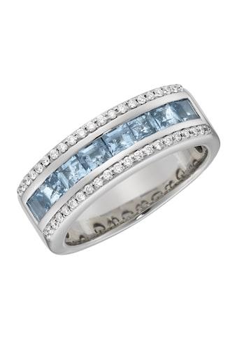 Creazione Bijoux Ring »750/ -  Weißgold mit Aquamarin und Diamanten« kaufen