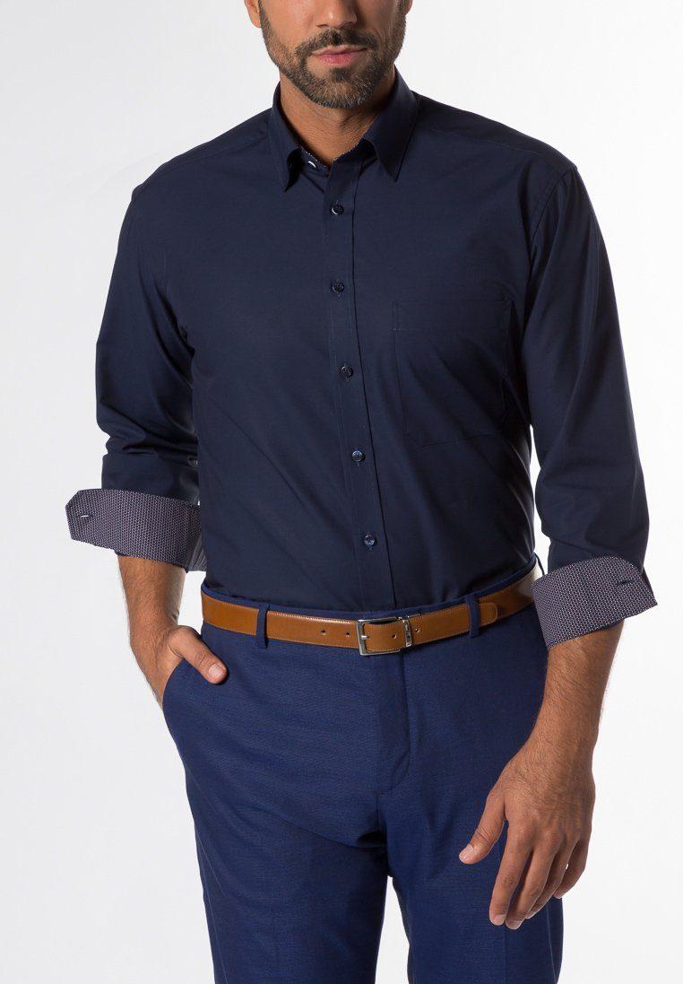 eterna langarm hemd comfort fit chambray unifarben. Black Bedroom Furniture Sets. Home Design Ideas