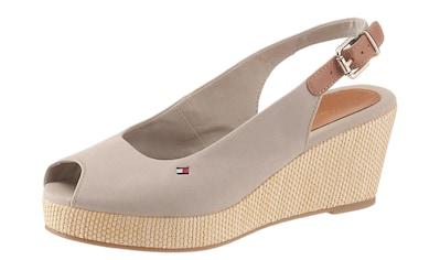 TOMMY HILFIGER Sandalette »ICONIC ELBA SLING BACK WEDGE«, mit Jutebesatz kaufen