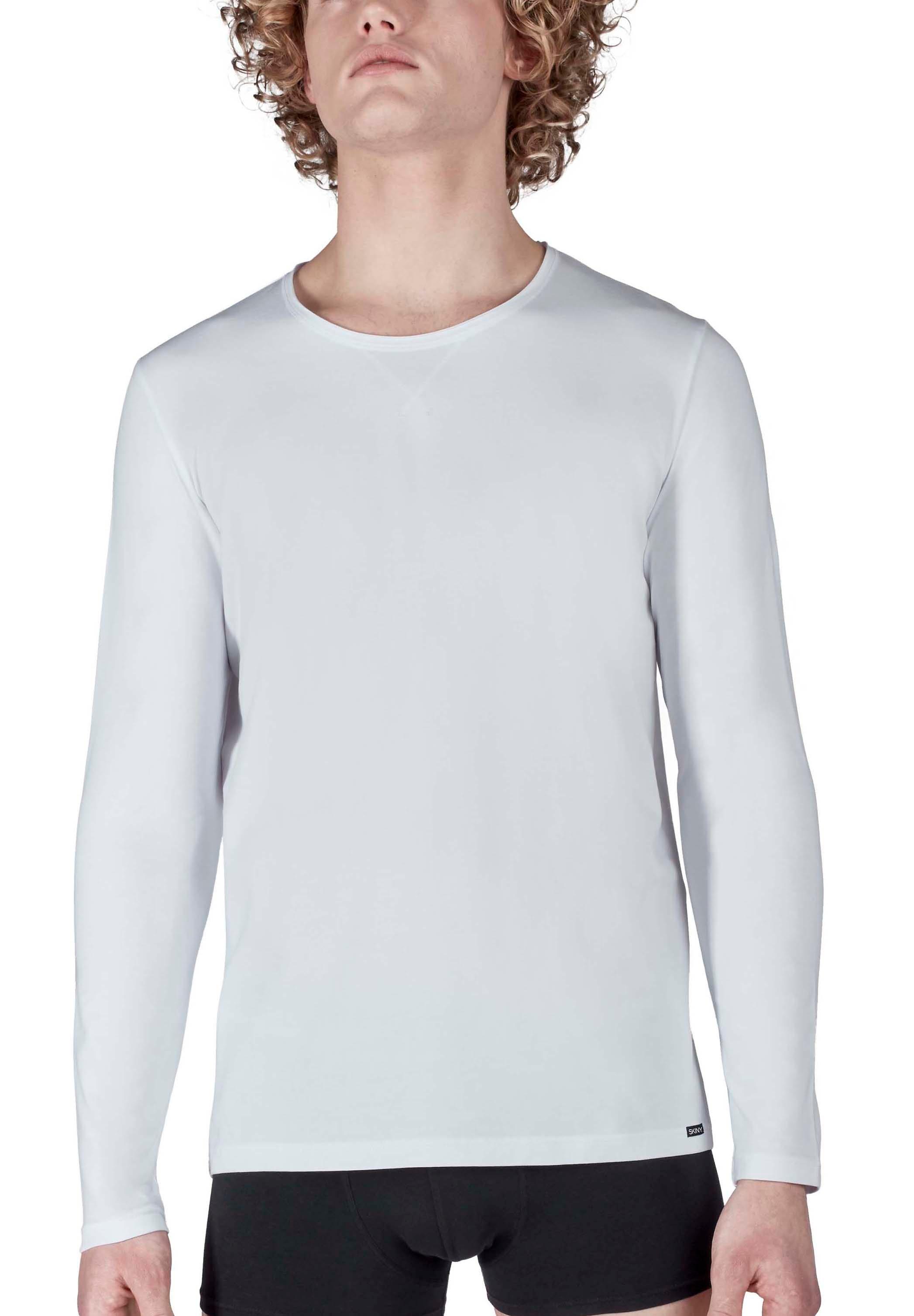 skiny -  Langarmshirt mit modernem X-Stitching