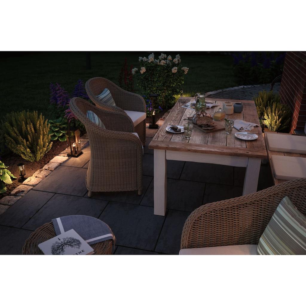 Paulmann LED Gartenleuchte »Outdoor Plug & Shine classic lantern«, E14, 1 St., Extra-Warmweiß, IP44 24V 40cm E14 1900K Anthrazit