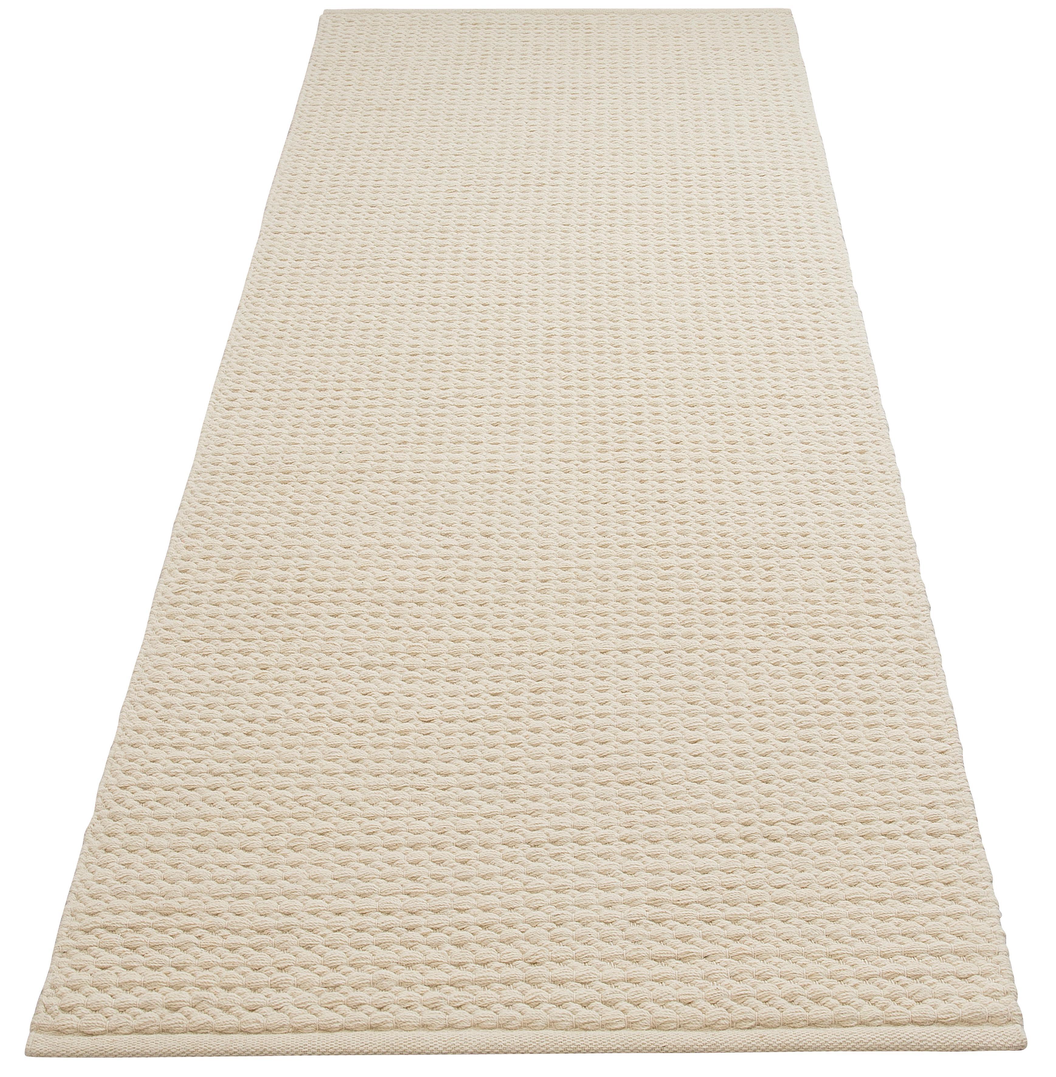 DELAVITA Läufer Sanara, rechteckig, 13 mm Höhe, Strick-Optik beige Teppichläufer Teppiche und Diele Flur