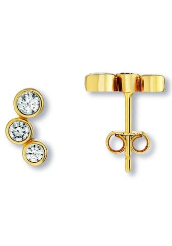 ONE ELEMENT Paar Ohrstecker »Ohrringe / Ohrstecker aus 333 Gelbgold Zirkonia« kaufen