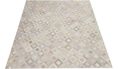 DELAVITA Lederteppich »Arno«, rechteckig, 8 mm Höhe, jeder Teppich-ein Unikat, Wohnzimmer kaufen