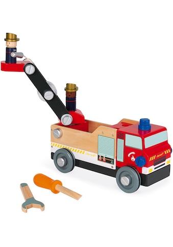 Janod Spielzeug-Feuerwehr »Brico Kids«, FSC®-Holz aus gewissenhaft bewirtschafteten... kaufen