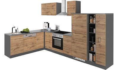 HELD MÖBEL Winkelküche »Colmar«, mit E-Geräten, Stellbreite 210/330 cm kaufen