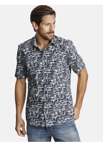 SHIRTMASTER Kurzarmhemd »paparazzo«, mit fotorealistischem Druck kaufen