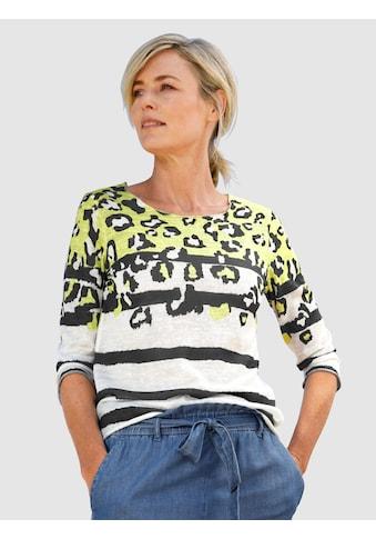 Dress In 3/4-Arm-Shirt, mit modernem Druckmix kaufen