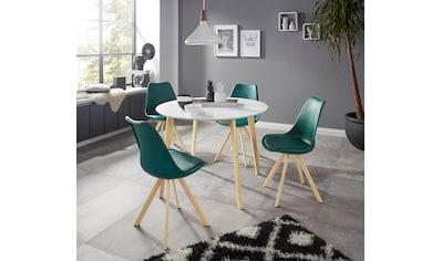 INOSIGN Essgruppe »Levent«, (Set, 5 tlg.), bestehend aus 4 Lazio Stühlen und dem Cody... kaufen