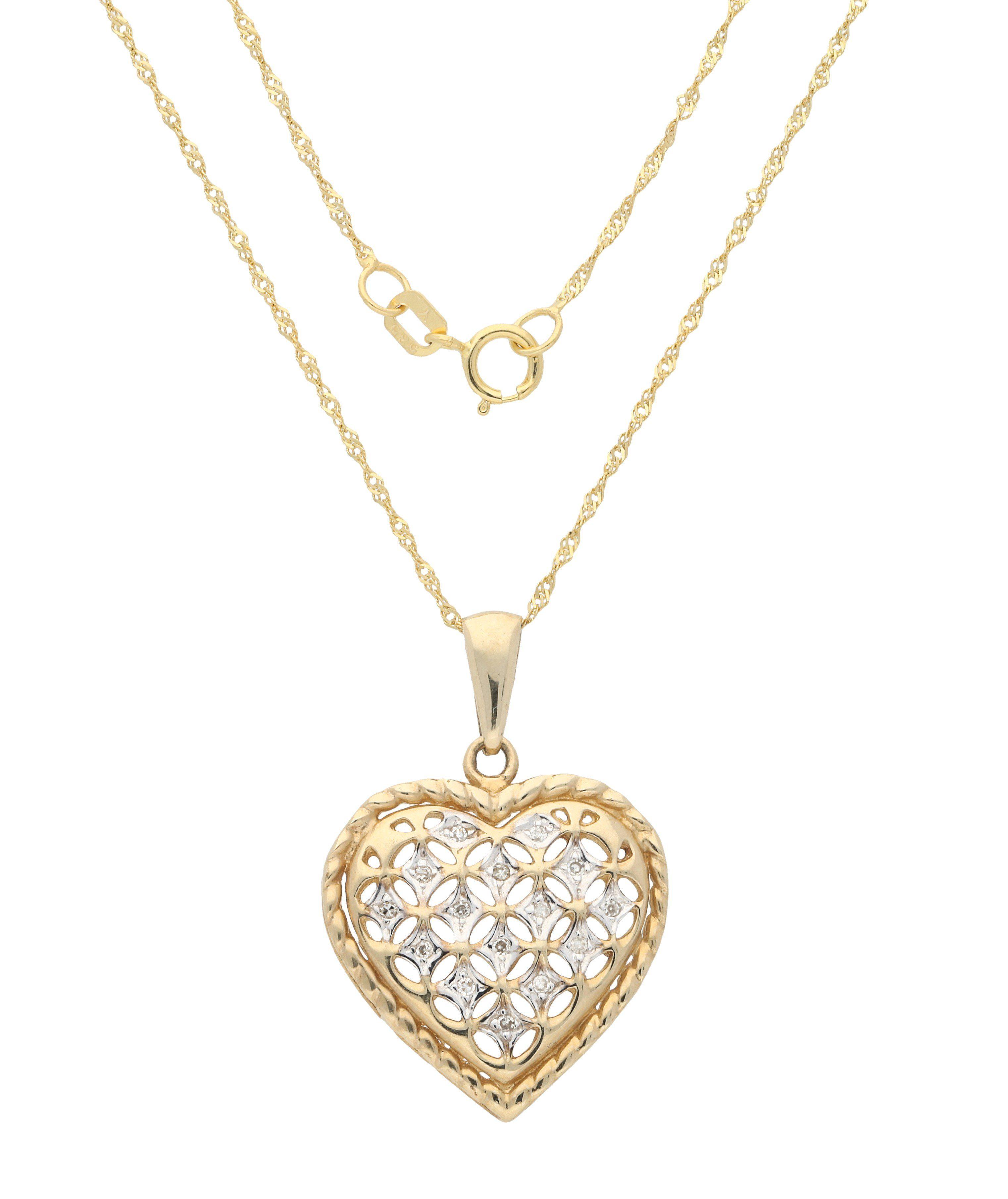 Vivance Kette mit Anhänger Herz   Schmuck > Halsketten > Herzketten   Goldfarben   Vivance