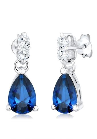 Elli Paar Ohrhänger »Ohrstecker mit Zirkonia Tropfen Blau 925 Silber« kaufen