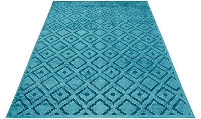 MINT RUGS Teppich »Iris«, rechteckig, 4 mm Höhe, Hoch-Tief-Effekt, Wohnzimmer kaufen