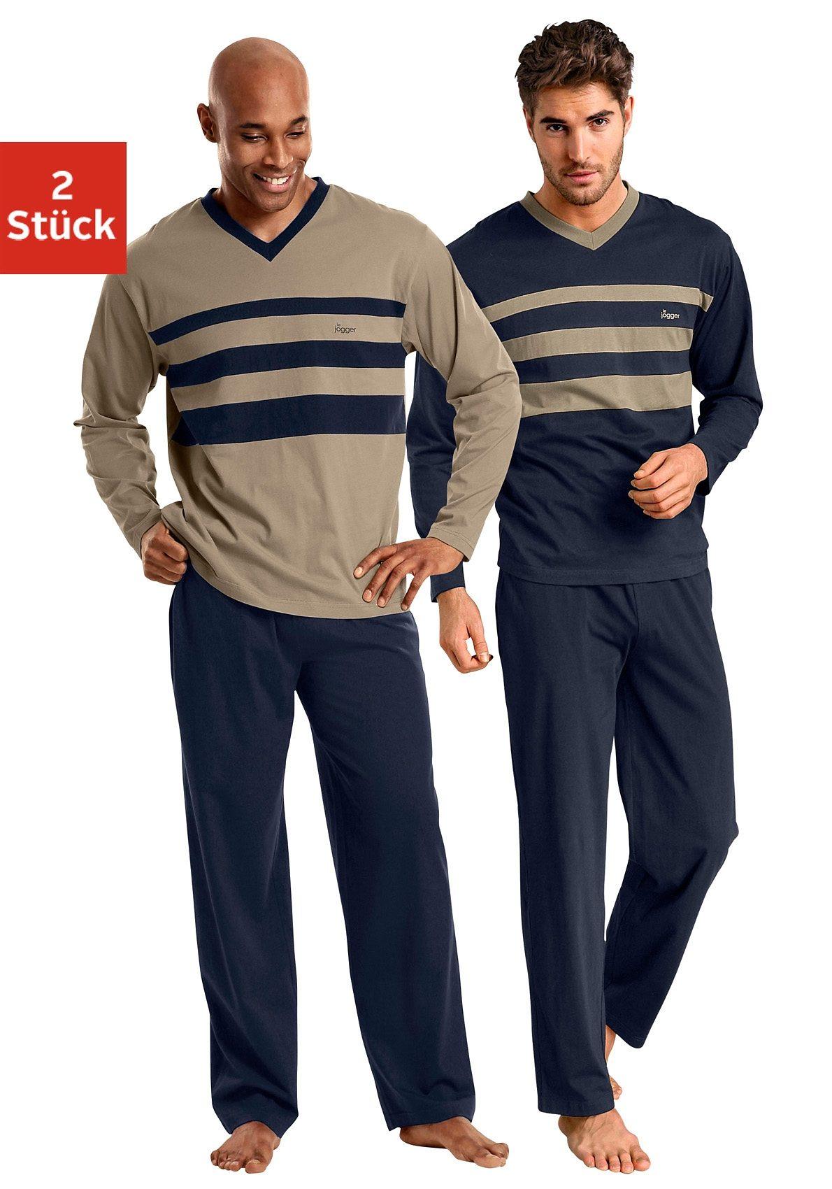 Le Jogger Pyjamas (2 Stück) mit Colourblocks   Bekleidung > Wäsche > Nachtwäsche   Le Jogger
