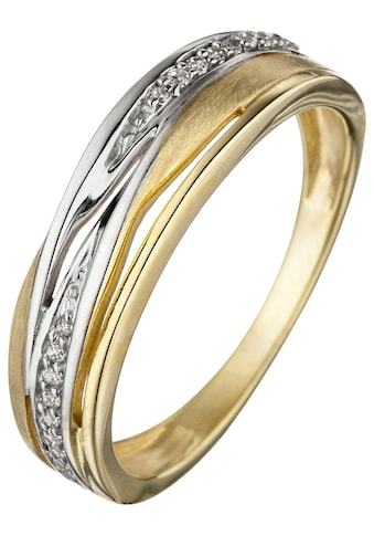JOBO Goldring, 333 Gold bicolor mit Zirkonia kaufen