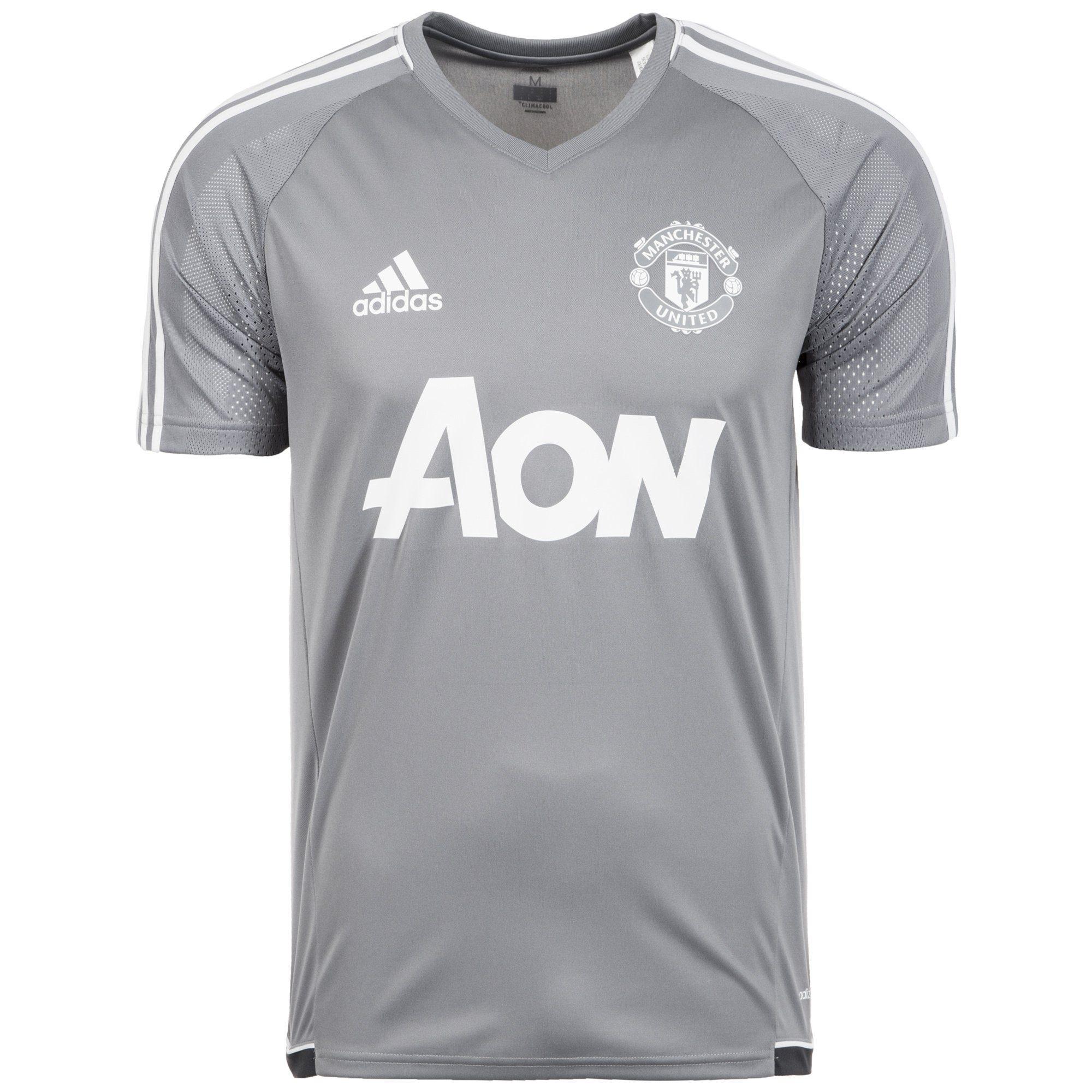 adidas Performance Trainingsshirt »Manchester United Authentic«   Sportbekleidung > Sportshirts > Funktionsshirts   Grau   Trikot   ADIDAS PERFORMANCE