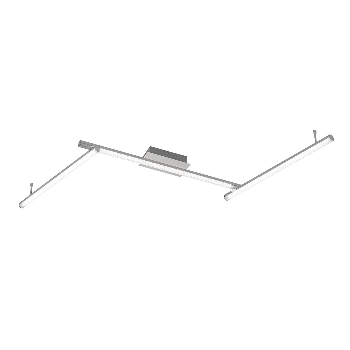 WOFI LED Deckenleuchte Akron, LED-Board, Warmweiß