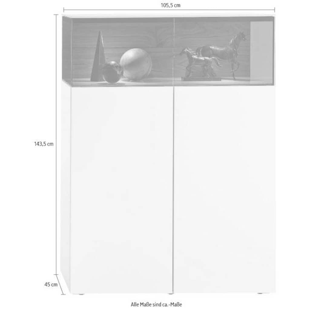 hülsta Vitrine »GENTIS«, zweitürig, Breite 105,5 cm, inklusive Beleuchtung, inklusive Liefer- und Montageservice durch hülsta Monteure
