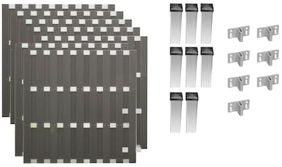 T&J Bohlenzaun »Jackson 5«, 7 Elemente, LxH: 1316x180 cm kaufen
