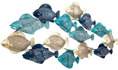 Schneider Wanddekoobjekt »Fishes«, Wanddeko aus Metall, maritim kaufen