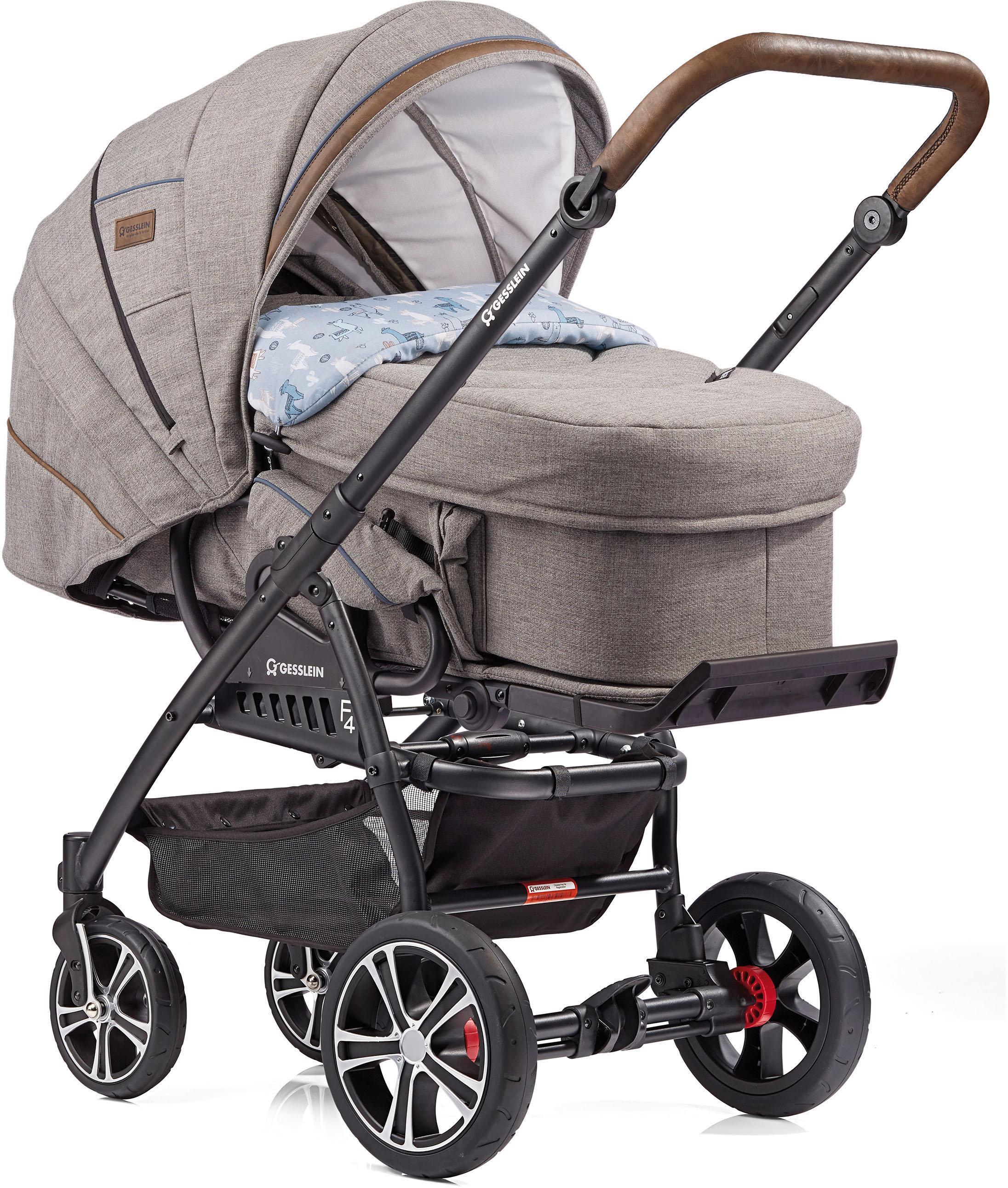 """Gesslein Kombi-Kinderwagen """"F4 Air+ mit Tragetasche C2 Compact Stein meliert/Lama"""" Kindermode/Ausstattung/Kinderwagen & Buggies/Kinderwagen/Kombikinderwagen"""