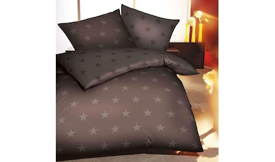BETTWARENSHOP Bettwäsche »Stars Cappuccino«, warme weiche Winterwäsche kaufen