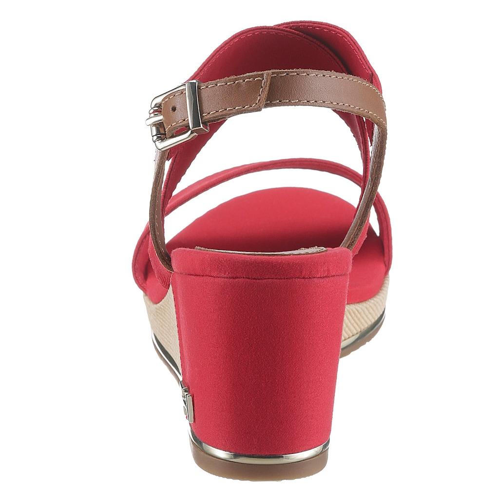 TOMMY HILFIGER Sandalette »TH HARDWARE BASIC MID WEDGE«