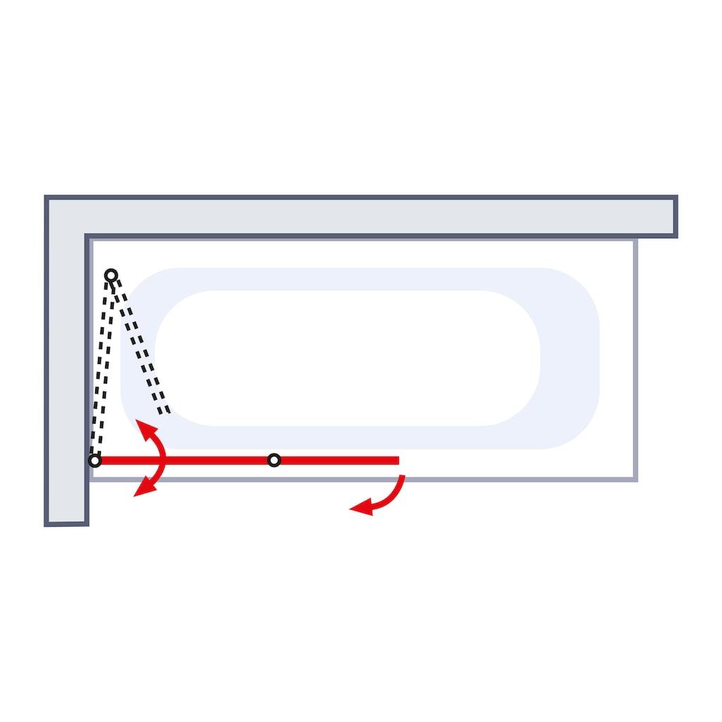 Schulte Badewannenaufsatz »Einfach ohne Bohren«, BxH: 112 x 140 cm