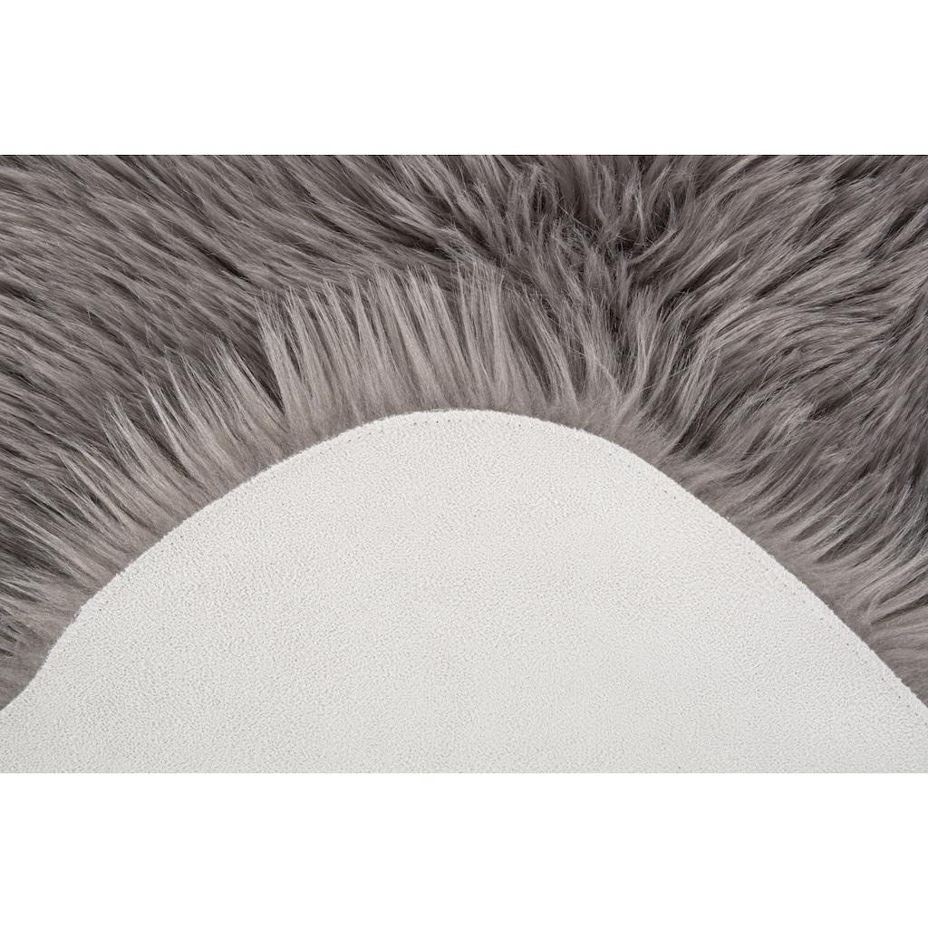 Andiamo Fellteppich »Ovium«, rund, 60 mm Höhe, Kunstfell, Wohnzimmer
