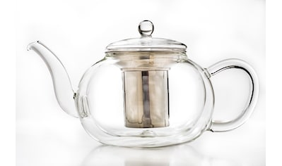 Creano Teekanne, 1,2 l, (1), doppelwandig, Borosilikatglas, Edelstahl kaufen