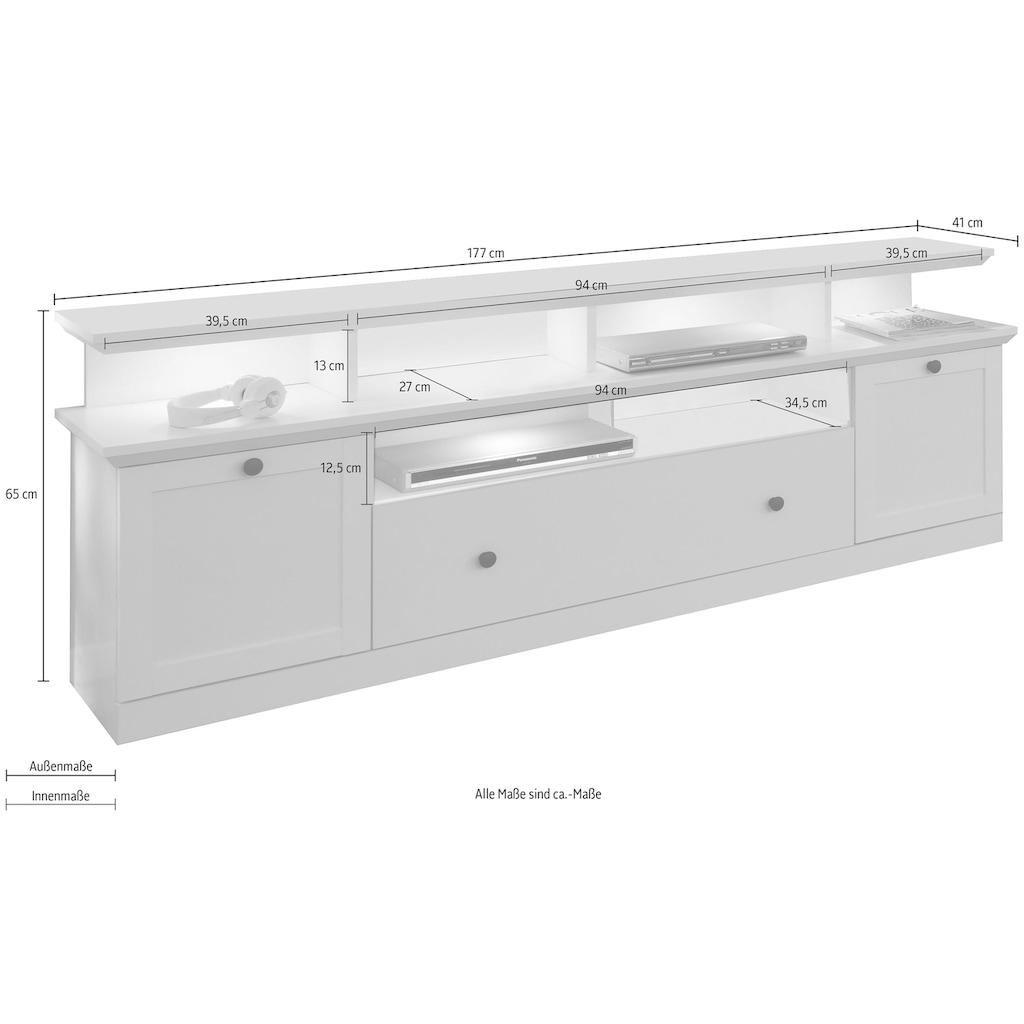 trendteam Lowboard »Baxter«, inkl. Aufsatz, Breite 177 cm