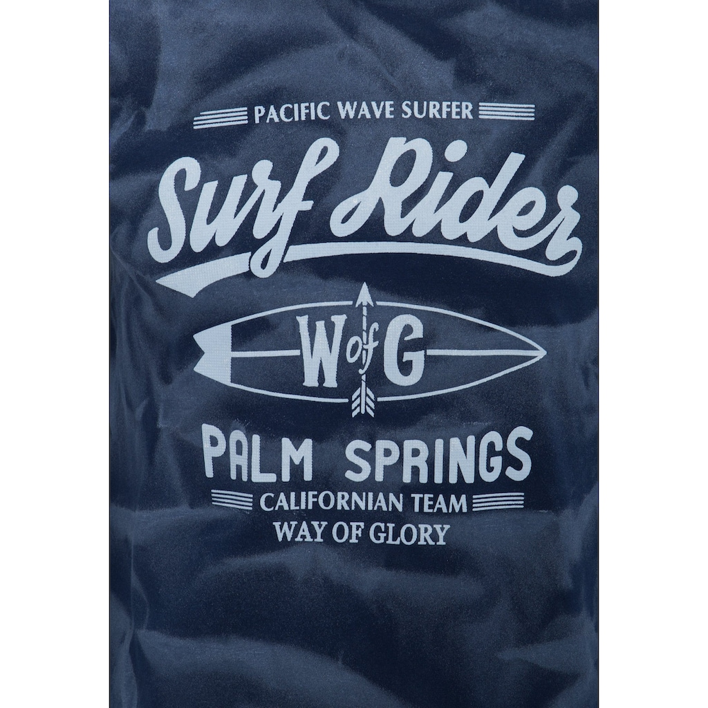 Way of Glory Print-Shirt, mit Strukturprint
