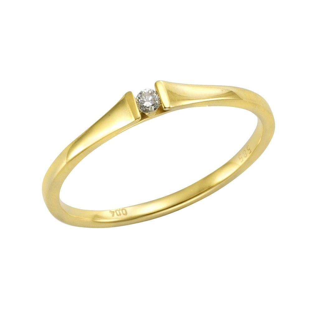 Orolino Fingerring »585/- Gelbgold Brillant«, Ring
