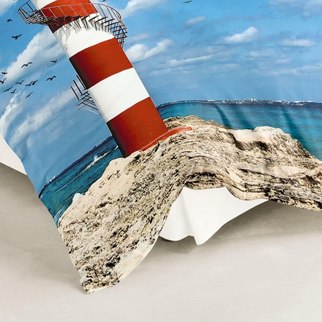 TRAUMSCHLAF Bettwäsche »Leuchtturm«, Digitaldruck im maritimen Stil