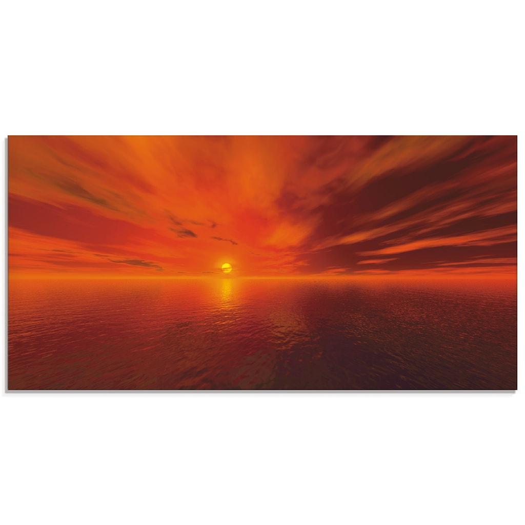 Artland Glasbild »Sonnenuntergang am Meer«, Sonnenaufgang & -untergang, (1 St.)