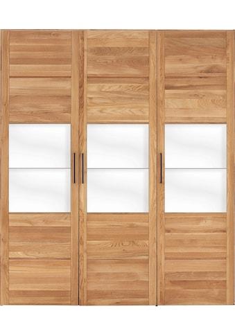 Premium collection by Home affaire Drehtürenschrank »Chamara«, aus massivem Eichenholz, in unterschiedlichen Schrankbreiten erhältlich, Höhe 218 cm kaufen